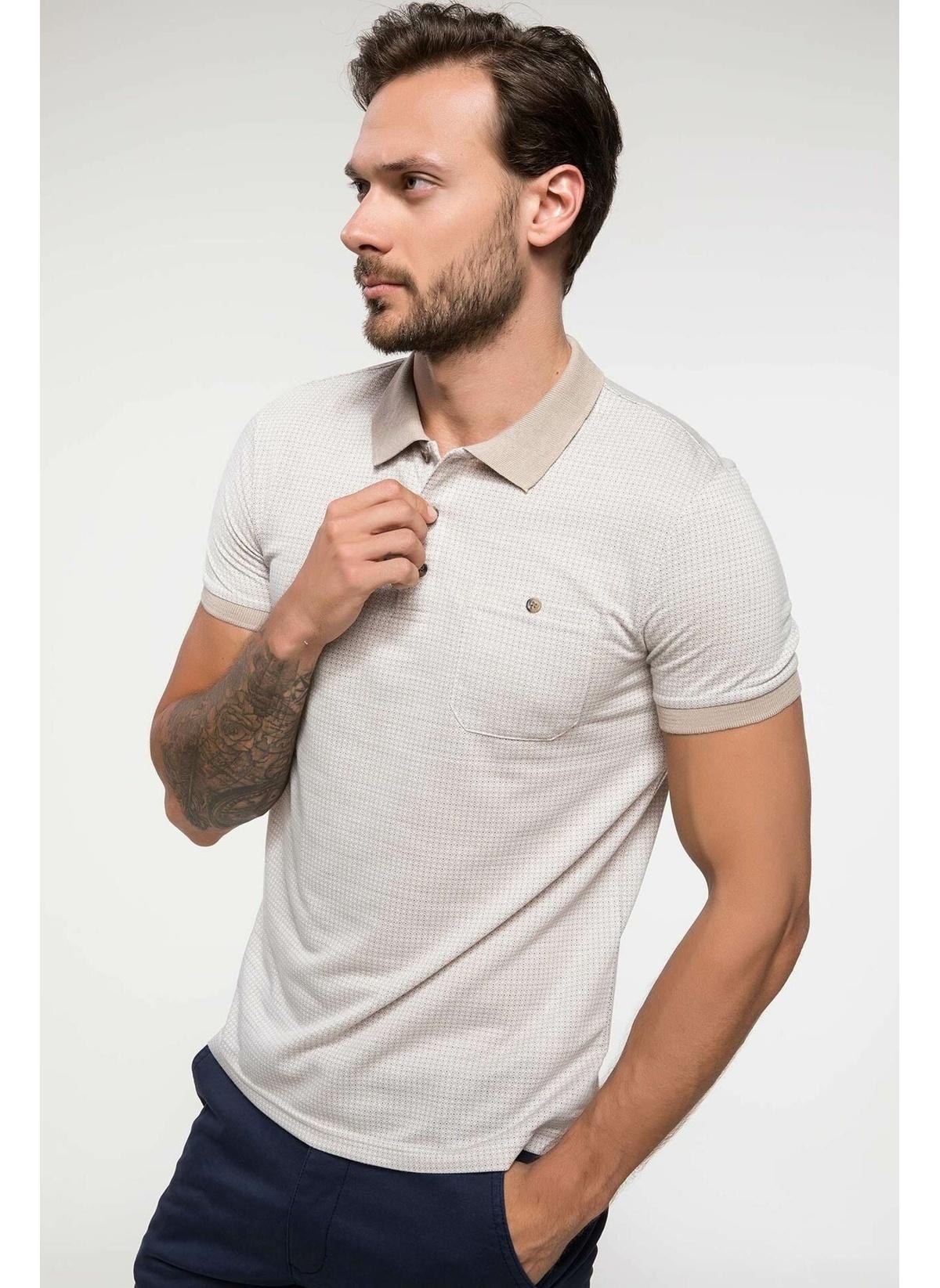 Defacto Geometrik Desenli Jakarlı Polo T-shirt J0444az18hsbg193t-shirt – 44.99 TL